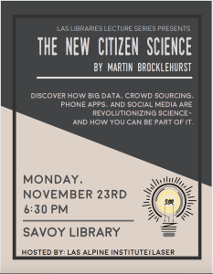 The New Citizen Science lecture by Martin Brocklehurst.