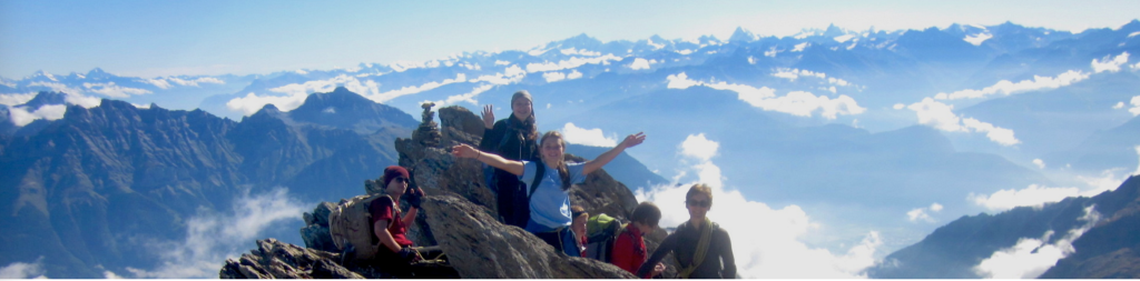 LAS students on the summit of Dents du Midi in 2014
