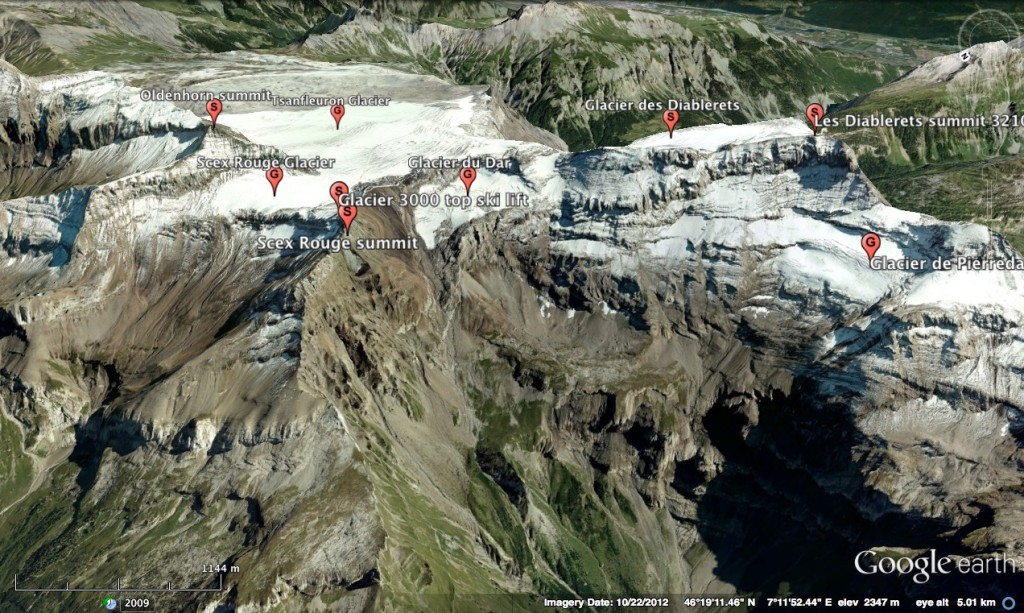 Diablerets Glaciers W view 2 (north side)