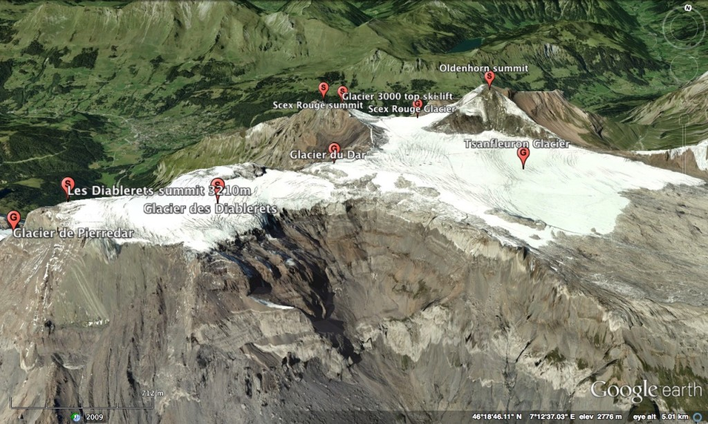Diablerets Glaciers W view 3 (south side)