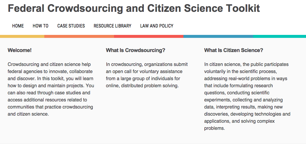 Federal Crowdsourcing and Citizen Science Toolkit
