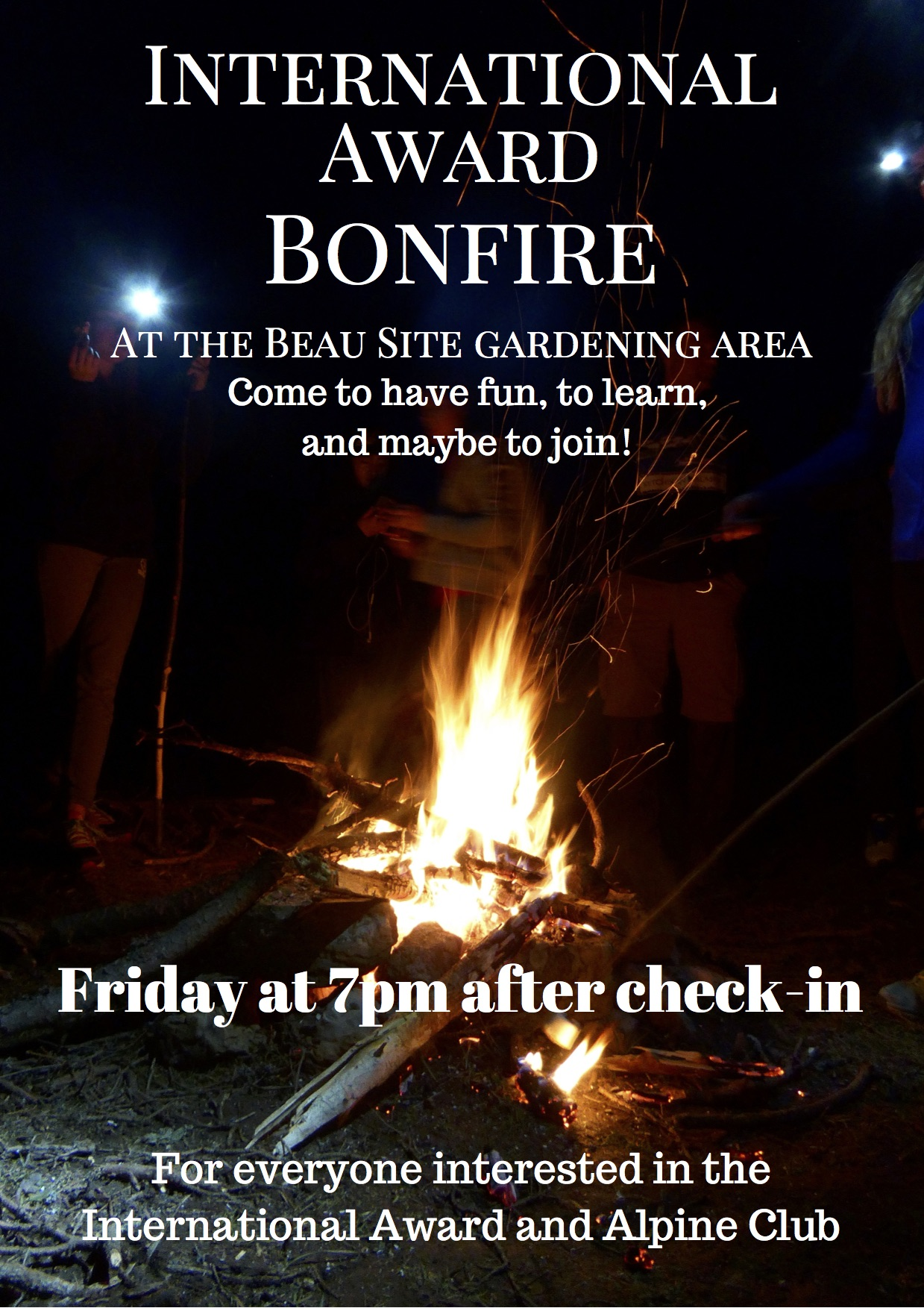 "the first annual ""Introducing the International Award Bonfire""."